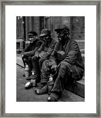 Coal Miners Dirty Job Vintage  Framed Print