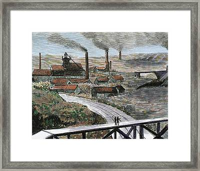 Coal Mining Herscheuse Mining Quaregnon Framed Print by Prisma Archivo