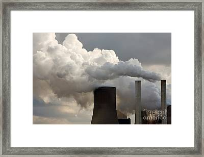 Coal Power Station Blasting Away Framed Print