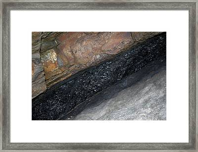 Coal Seam Framed Print by Sinclair Stammers