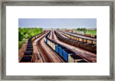Coal Snakes Framed Print