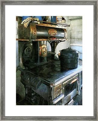 Coal Stove Framed Print by Susan Savad