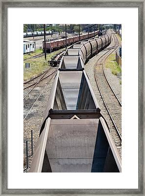 Coal Train Framed Print