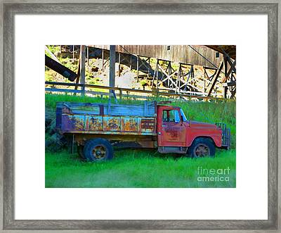 Coal Truck Framed Print by John Kreiter