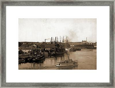 Coal Wharves, Portsmouth Framed Print by Litz Collection