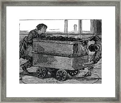 Coal Workers Framed Print by Science Photo Library