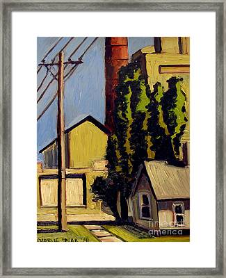 Coal Fired Power Plant On Canal Framed Print