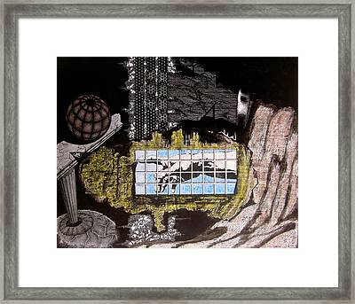 Framed Print featuring the drawing Coalition Of Time by Geni Gorani