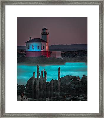 Coaquille Lighthouse Framed Print