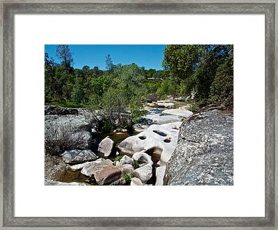 Coarsegold Creek Bed In Park Sierra-ca Framed Print by Ruth Hager