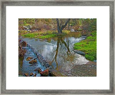 Coarsegold Creek Covers Road In Spring In Park Sierra In Coarsegold-california  Framed Print by Ruth Hager
