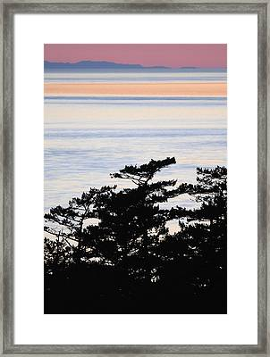 Coast At Sunset Deception Pass Framed Print