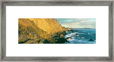 Coast At Sunset, Hacienda Cerritos Framed Print by Panoramic Images
