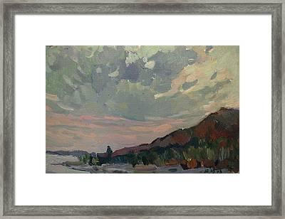 Coast At Sunset Framed Print by Juliya Zhukova