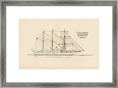 Coast Guard Cutter Alexander Hamilton Framed Print