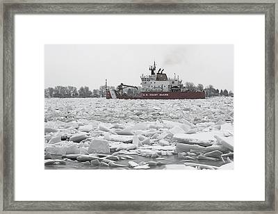 Coast Guard Cutter And Ice 6 Framed Print by Mary Bedy