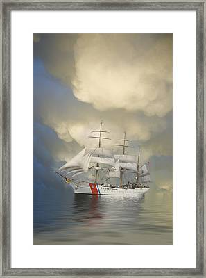Coast Guard Cutter Eagle Framed Print by Jerry McElroy