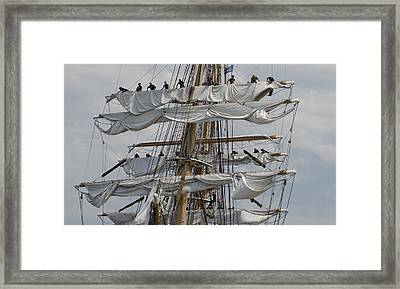 Coast Guard Cutter Eagle Opsail 2012 Framed Print by Marianne Campolongo