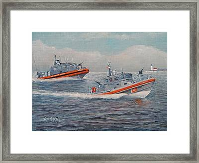 Coast Guard Lri And Rb-m Framed Print by William H RaVell III