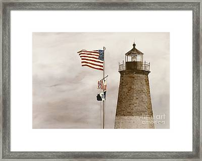 Coast Guard Framed Print by Monte Toon