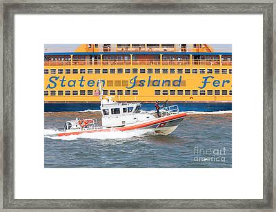 Coast Guard Response Boat-medium I Framed Print by Clarence Holmes