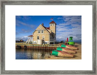 Coast Guard Station Framed Print by Debra and Dave Vanderlaan