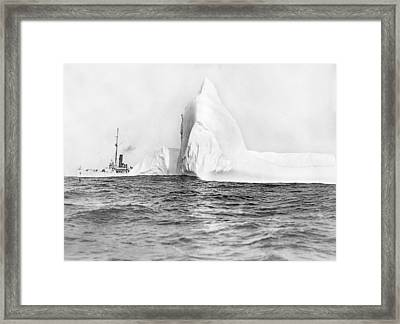 Coast Guard Tracks Icebergs Framed Print by Underwood Archives