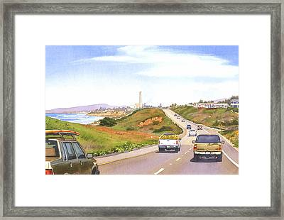 Coast Hwy 101 Carlsbad California Framed Print by Mary Helmreich