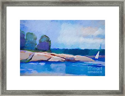 Coast Impression II Framed Print