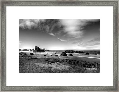 Coast Of Dreams 6 Bw Framed Print by Mel Steinhauer