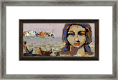 Framed Print featuring the painting Coast Of Dreams by Pemaro