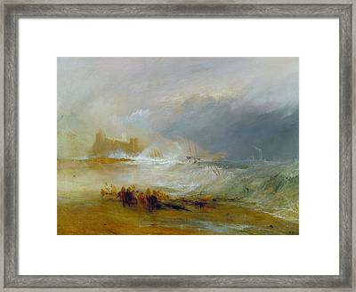Coast Of Northumberland Framed Print by JMW Turner