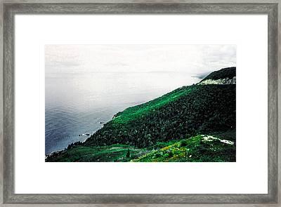 Coast Of Nova Scotia Framed Print by Christy Usilton