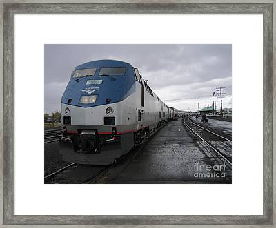 Coast Starlight At Klamath Falls Framed Print by James B Toy