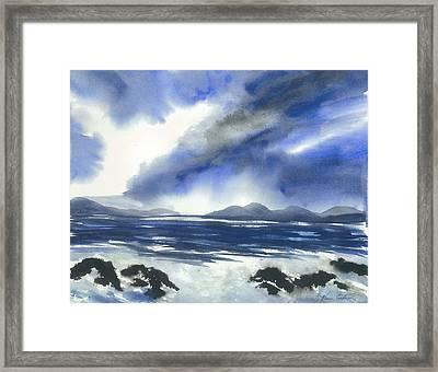 Coast To Coast Framed Print by Karen  Condron