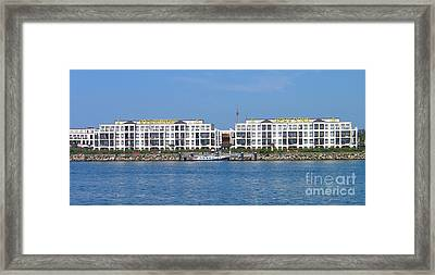 Framed Print featuring the photograph Coast Warnemuende Germany by Art Photography