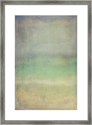 Coastal Abstract Framed Print by Ramona Murdock