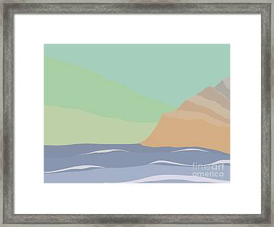 Coastal Bank Framed Print by Henry Manning