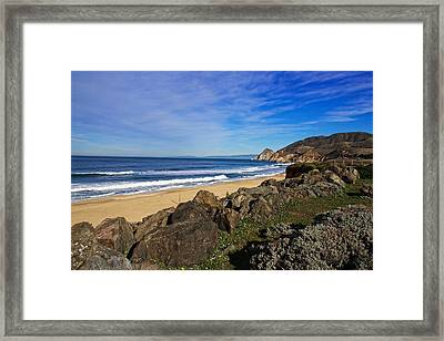 Framed Print featuring the photograph Coastal Beauty by Dave Files