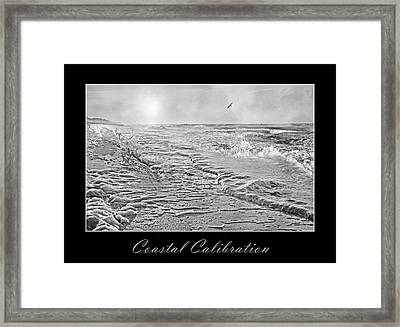 Coastal Calibration Framed Print
