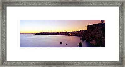 Coastal City At Dusk, Ras Um Sid, Sharm Framed Print