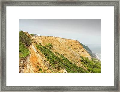 Coastal Cliff On The Jurassic Coast Framed Print by Ashley Cooper