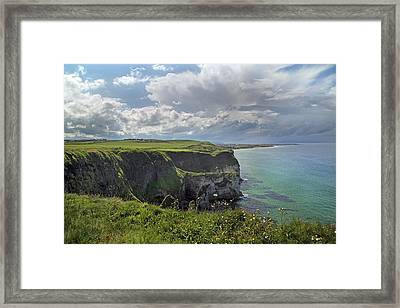 Coastal Cliffs Antrim Ireland Framed Print by Betsy Knapp