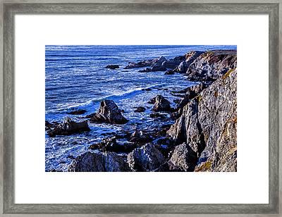 Coastal Cliffs Framed Print by Garry Gay