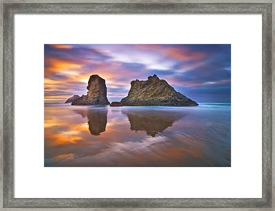 Coastal Cloud Dance Framed Print by Darren  White