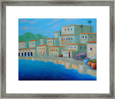 Framed Print featuring the painting Coastal Colors by Larry Cirigliano