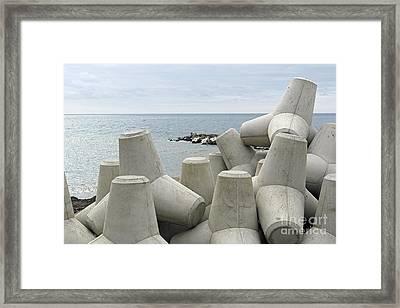 Coastal Defences, Madeira, Portugal Framed Print