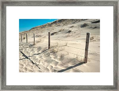 Coastal Dunes In Holland 3 Framed Print by Jenny Rainbow