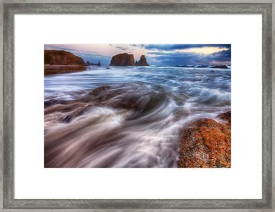 Coastal Flow Framed Print by Darren  White