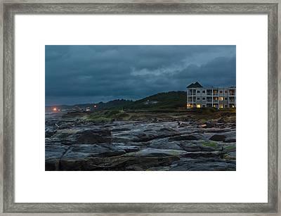 Coastal Fury Framed Print by Margaret Pitcher